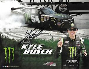 2014 Kyle Busch Monster Energy Drink NASCAR Signed Auto 8.5x11 Post Hero Card