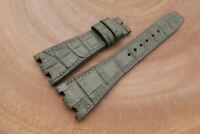 28mm/18mm Gray Genuine ALLIGATOR Skin Leather Watch Strap ForAudemars Piguet