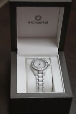 Michael Hill Diamond white Ceramic & Stainless Steel ladies watch
