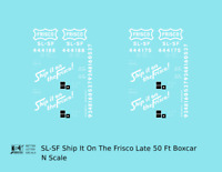 K4 N Decals SLSF Frisco 50 Ft Boxcar White Late Scheme