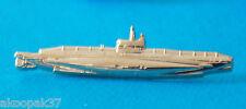 HMAS AE1 / AE2  SUBMARINE BADGE GOLD PLATED 60MM LONG WITH 2 PINS