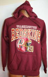 Vintage 80s WASHINGTON REDSKINS 50/50 Raglan Hoodie SWEATSHIRT S/M NFL Football