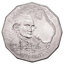 Captain Cook Bicentenary 50 cent coin, collectable 1970