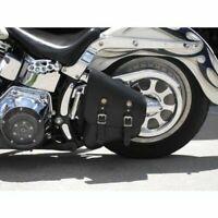 Motorcycle Motorbike Harley Style TEK Leather Softail Solo Swingarm Bag (LEFT)