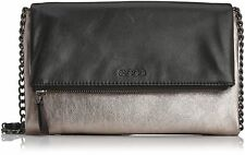 Luxury ECCO Women's Delight DESIGNER Leather Clutch Shoulder Bag Blackmoonstone