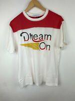 Daydreamer Size S Dream On 74 White Graphic T  Short Sleeve T Shirt NWT