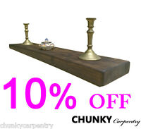 Floating Shelf Chunky Rustic Reclaimed Shelves Mantel Wooden Sale