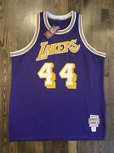 New NWT Authentic Mitchell & Ness JERRY WEST #44 Los Angeles Lakers Jersey 48 XL