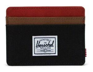 Herschel Charlie Wallet - Black/Saddle/Ketchup RRP £20