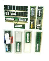 Lot of 10 Laptop And Desktop RAM Various Speeds & Various Brands RAM Memory