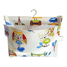 Owl Design Oilcloth Peg Bag - Made in Great Britain