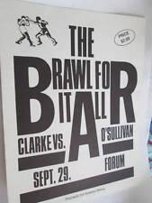 Chris Clarke Vs Shawn O'Sullivan September 29, 1987 Halifax Forum Boxing Flyer