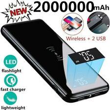 Qi Wireless Power Bank 2000000mAh Backup Portable Charger External Battery Pack