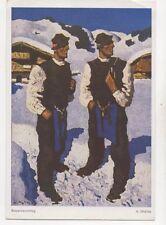 Walde Bauernsonntag Vintage Art Postcard 257b