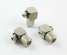 20 Pcs M5 - 4mm Elbow Pneumatic Pipe Air Hose Quick Fitting Mini Connector Iron