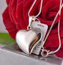 NECKLACE PENDANT HEART 34MM 925 STERLING SILVER RHODIUM PLATED