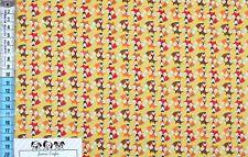 Baumwollstoff T Treasures Füchse gelb bunt Stoff Nähen hochwertig Designer UK