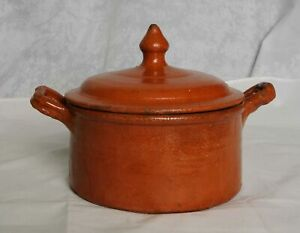 Studio Pottery Red Terracotta Lidded Oven Dish Pot