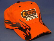 Economy Power King Tractor Hat - Orange/Black Flame Low Crown
