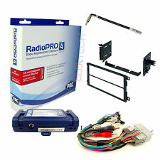Radio Replacement Interface w/Steering Control & Double-DIN Dash Kit for GMC