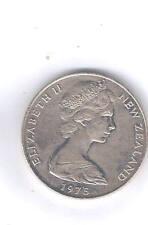 New Zealand Queen Elizabeth II 1975 $1.00 Coin In Plastic Case
