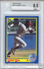 SAMMY SOSA Chicago Cubs White Sox 1990 Score rookie BGS 8.5