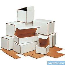 "5"" x 4"" x 4""  White Lightweight Light Corrugated Mailer Mailing Boxes 50 Pc"