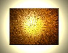 ORIGINAL Gold Modern ABSTRACT Impasto Metallic Textured Painting - 18x24
