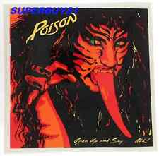 "ROCK BAND ""POISON"" AUTHENTIC VINTAGE 80's ""OPEN UP AND SAY AHH!"" CONCERT STICKER"