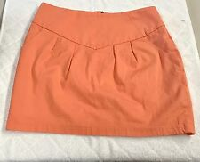 Fun Silence & Noise Orange Pockets Cotton Skirt Size 8