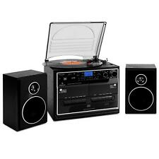 Stereo System Turntable Vinyl Record Player Bluetooth Cassette CD Player USB