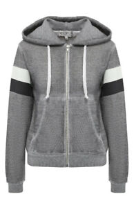 Wildfox Womens Rain or Shine WHB1678A3 Hoodie Relaxed HTHR Grey Size S