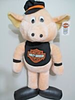 "Harley Davidson Stuffed HOG Motorcycle Biker Toy Pig Extra Large 27"" NEW"
