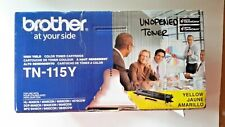 Brother TN-115Y Yellow Toner Cartridge GENUINE SEALED Open Box