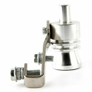 Car XL Turbo Sound Whistle Muffler Pipe Simulator Whistler Sliver Aluminum