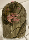 BASS PRO SHOP Womens Fit Hat Real Tree Camo Pink Stitch Ball Cap Hunting Fishing