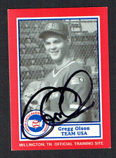 Gregg Olson #12 signed autograph auto 1990 US Federation Team USA Card