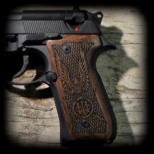 AMERICAN EAGLE Beretta 92F 92FS Pistol Grips engraved dark walnut AWESOME