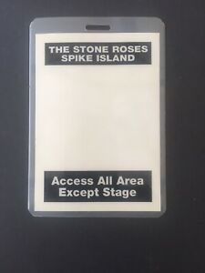 The Stone Roses - Spike Island Vintage Access All Area Pass 1990.