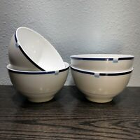 "mikasa jet set Blue Soup Cereal Bowls 5 1/2"""