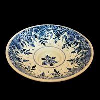"Vintage Delft  Blue & White 10"" footed Serving Bowl Platter Dutch Colonial Salad"