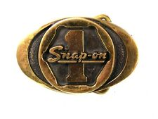 Snap On 1 Solid Brass Belt Buckle By BTS Made In USA 72616