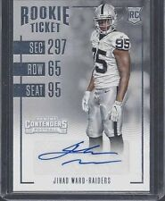JIHAD WARD 2016 PANINI CONTENDERS RAIDERS ROOKIE TICKET TRUE RC AUTO #122