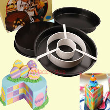 New Non-Stick Round Cake Baking Pan Divider Tray Checkerboard Bakeware Mold #T