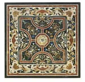 "42"" green marble Coffee Table Top Inlay Work Handicraft Home garden Decor"