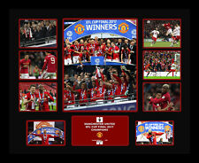 New Manchester United EFL Champions Signed Limited Edition Memorabilia Framed
