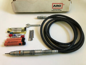 Ingersoll Rand ARO 7978 Air Pencil Grinder With Full Set Of Burrs, Pneumatic