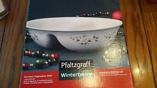 Pfaltzgraff Winterberry Divided Vegetable Dish 109-A00-00 New in Box