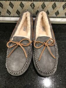 Women's UGG Dark Gray Pewter Dakota Slippers- size 11- #1107949
