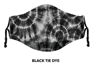 SUPALABS DEFEND Face Mask Premium Covering 5 layers of protection Black Tie Dye